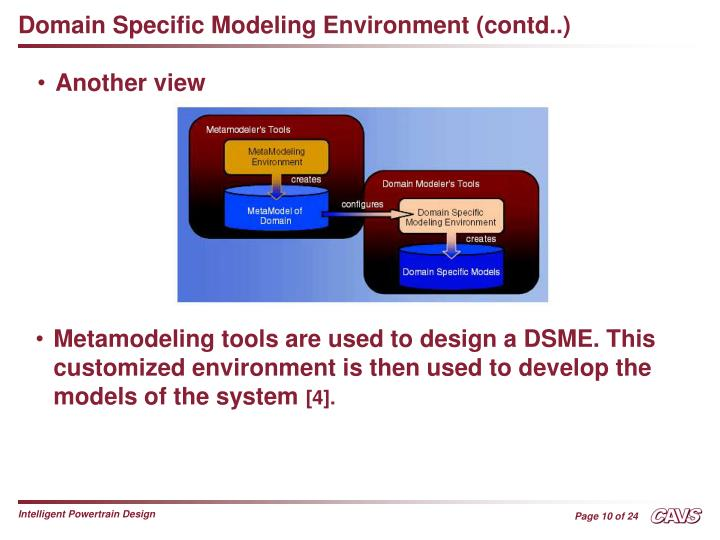 Domain Specific Modeling Environment (contd..)