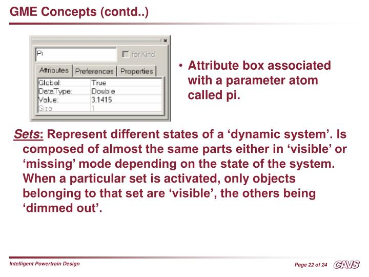 GME Concepts (contd..)