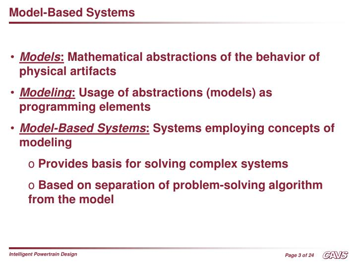 Model-Based Systems