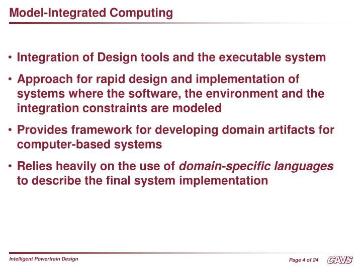 Model-Integrated Computing