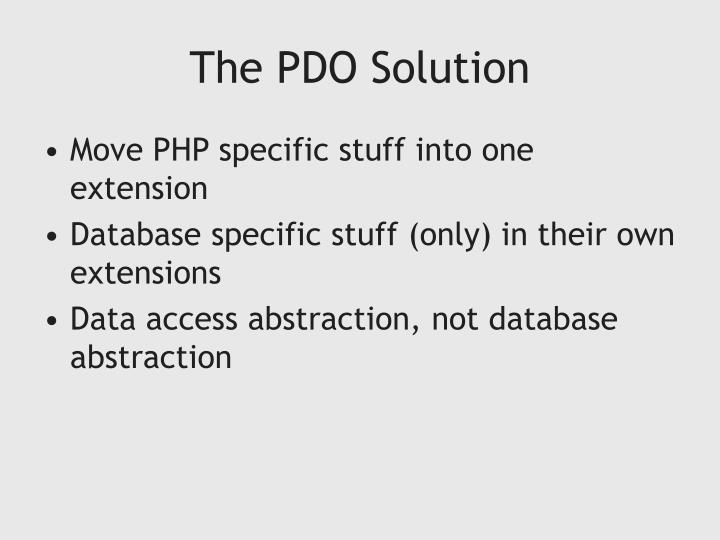 The PDO Solution