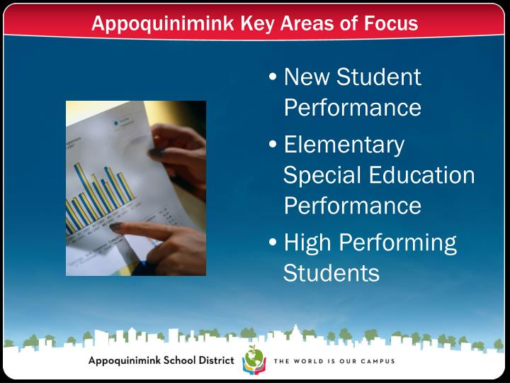 Appoquinimink Key Areas of Focus