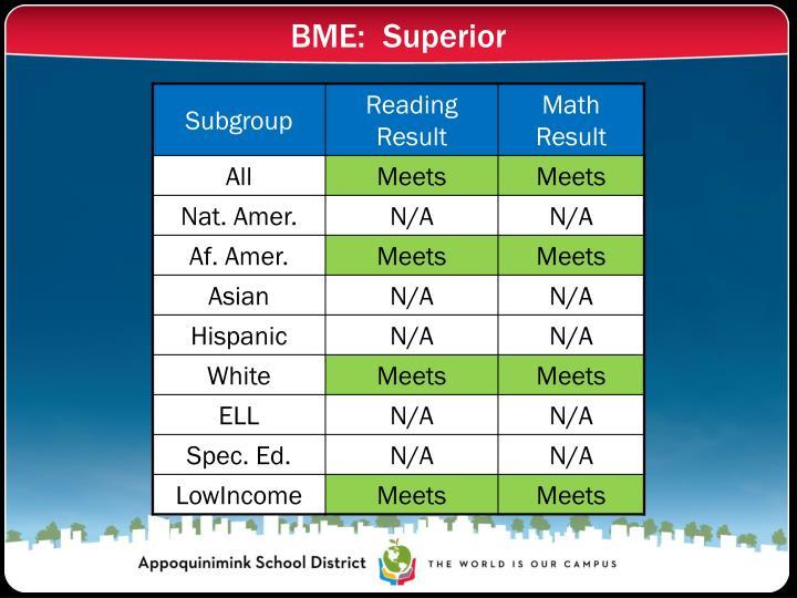 BME:  Superior