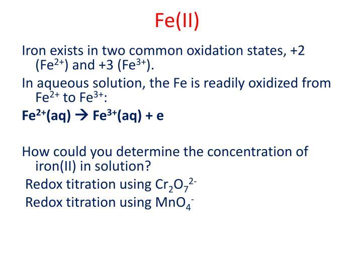 Fe(II)