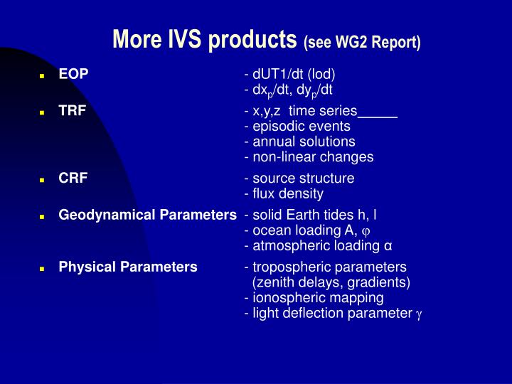 More IVS products