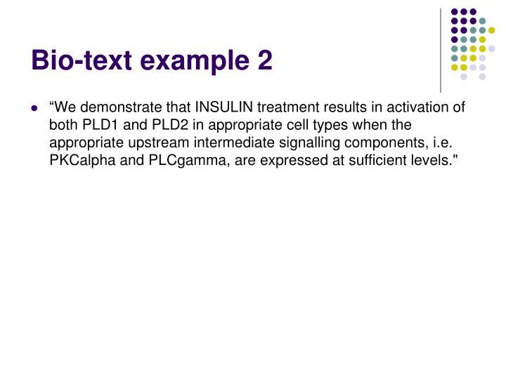 Bio-text example 2