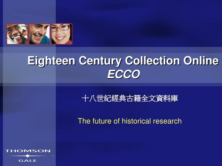 Eighteen century collection online ecco