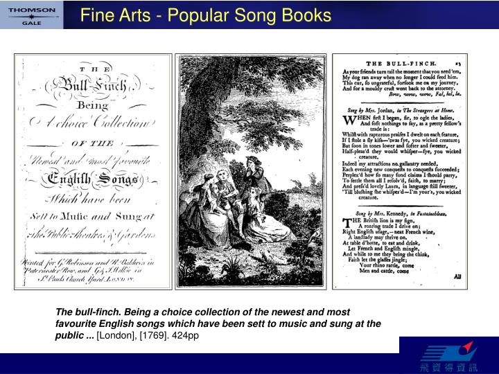 Fine Arts - Popular Song Books