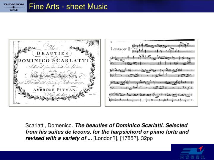 Fine Arts - sheet Music