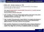 mapping ecco to curriculum english literature
