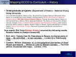 mapping ecco to curriculum history