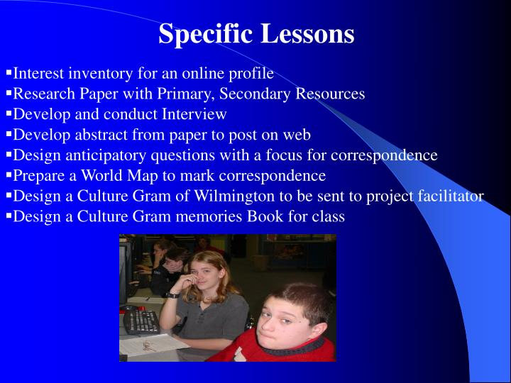 Specific Lessons