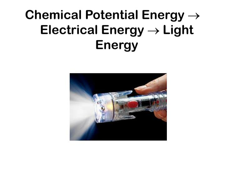 Chemical Potential Energy