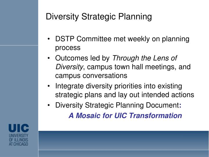 Diversity Strategic Planning
