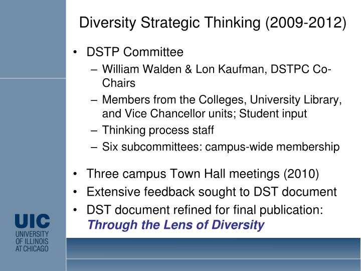 Diversity Strategic Thinking (2009-2012)
