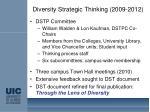 diversity strategic thinking 2009 2012