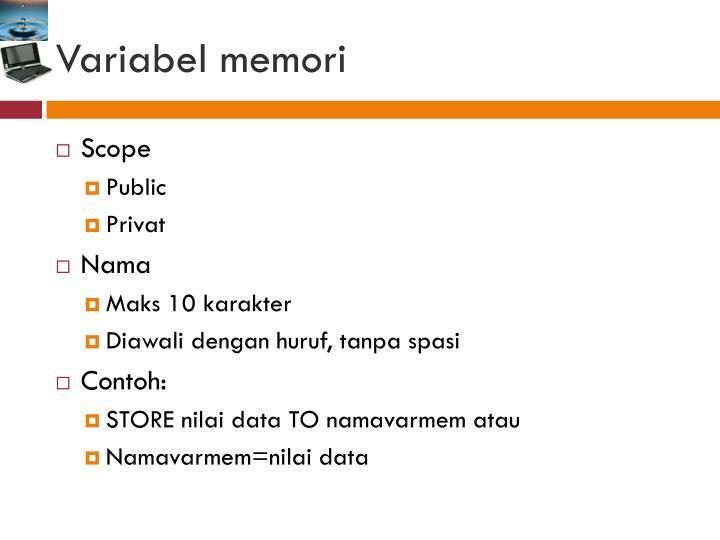 Variabel memori