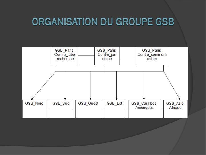 Organisation du groupe GSB
