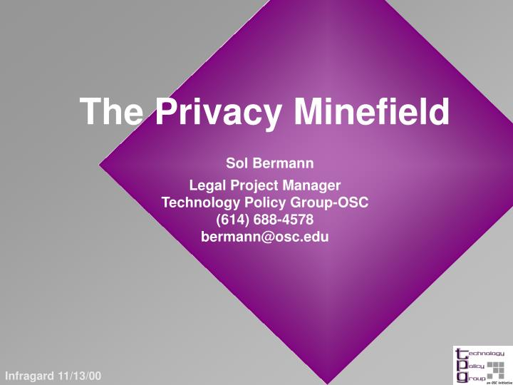 The Privacy Minefield