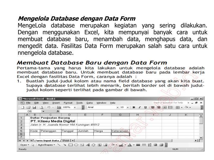 Mengelola Database dengan Data Form