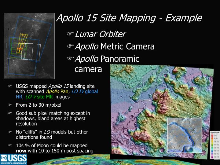 Apollo 15 Site Mapping - Example