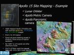 apollo 15 site mapping example