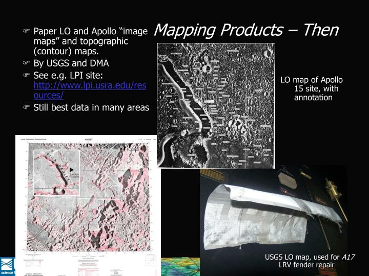 Mapping Products – Then