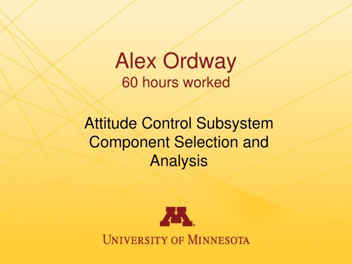 Alex Ordway