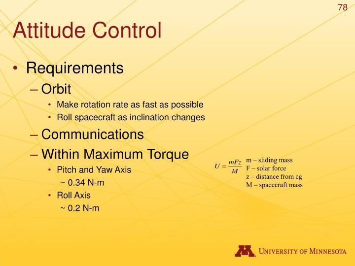 Attitude Control