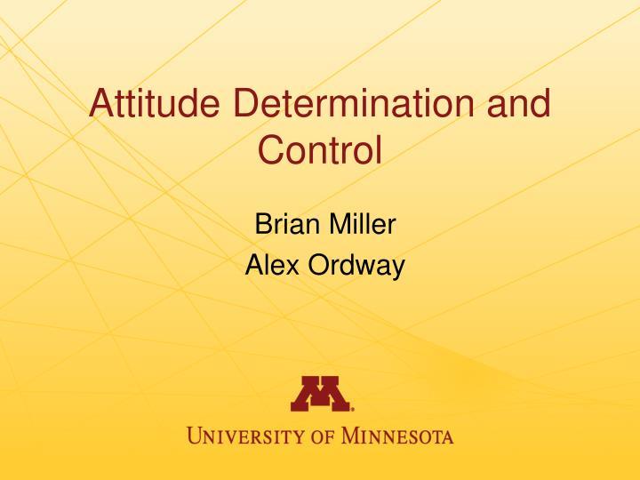 Attitude Determination and Control