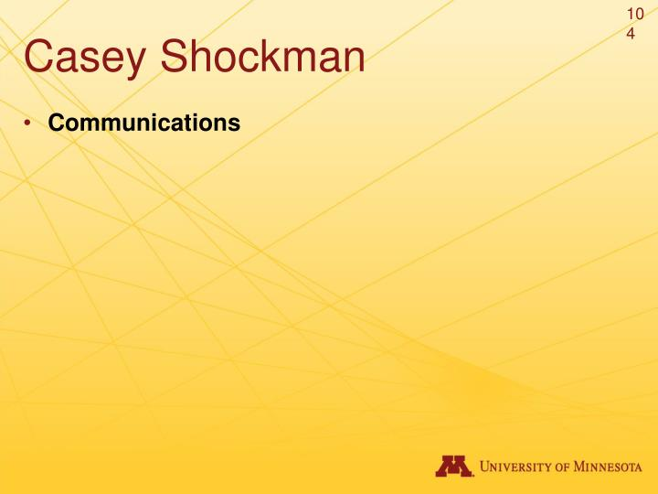 Casey Shockman