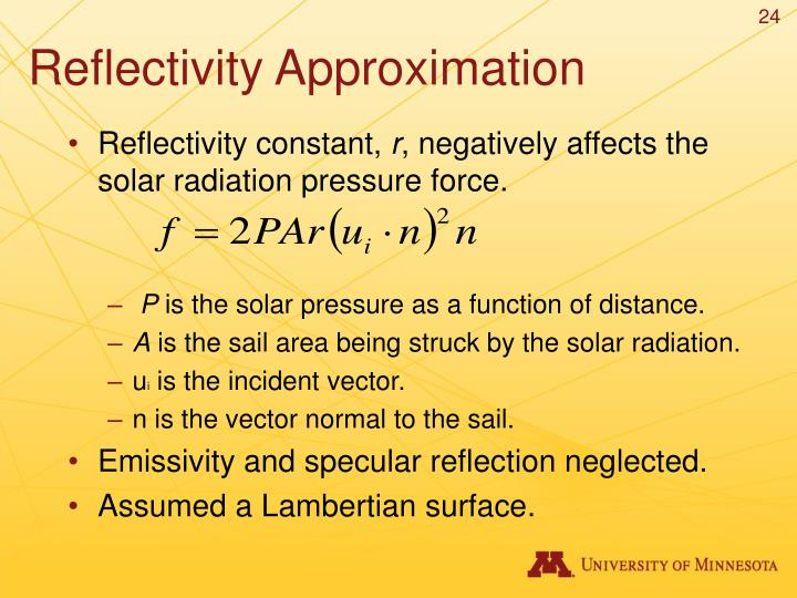 Reflectivity Approximation
