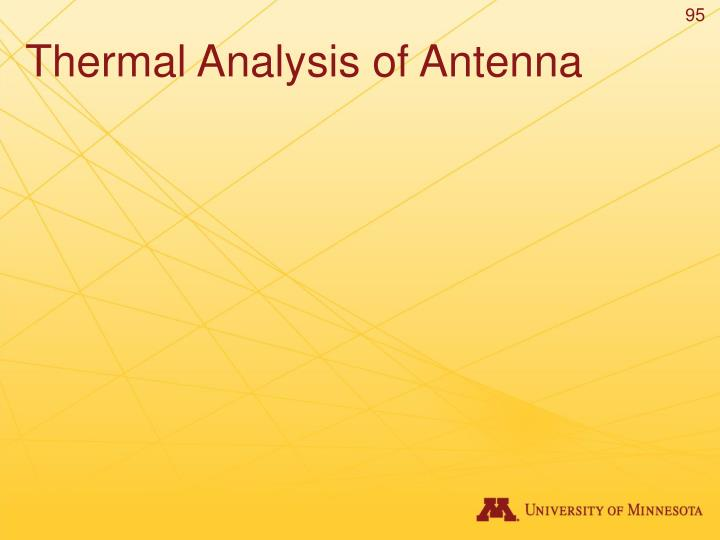 Thermal Analysis of Antenna