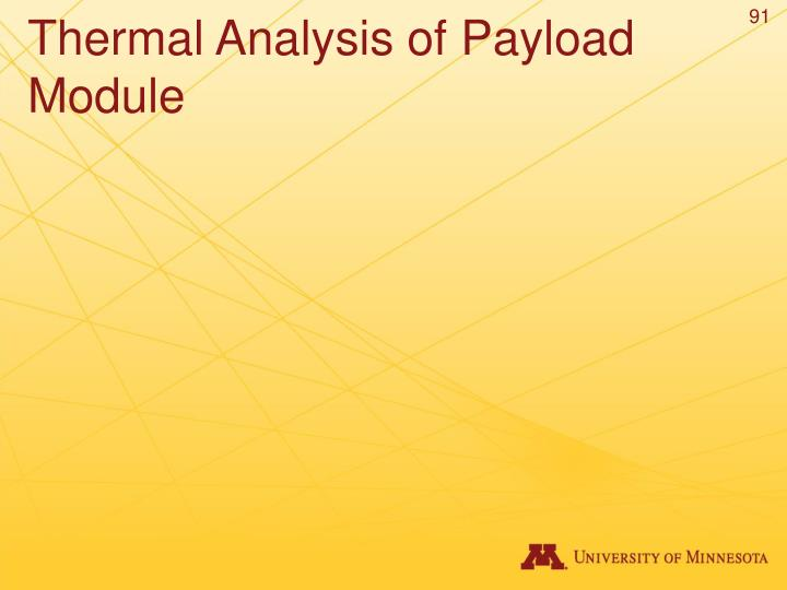 Thermal Analysis of Payload Module