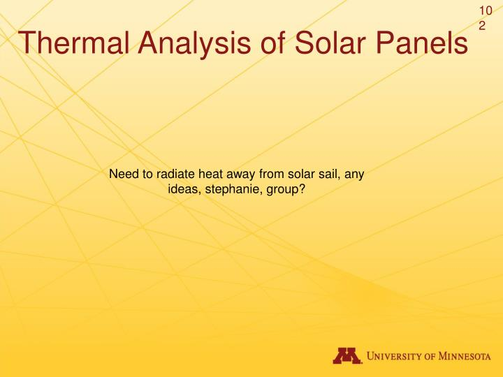 Thermal Analysis of Solar Panels