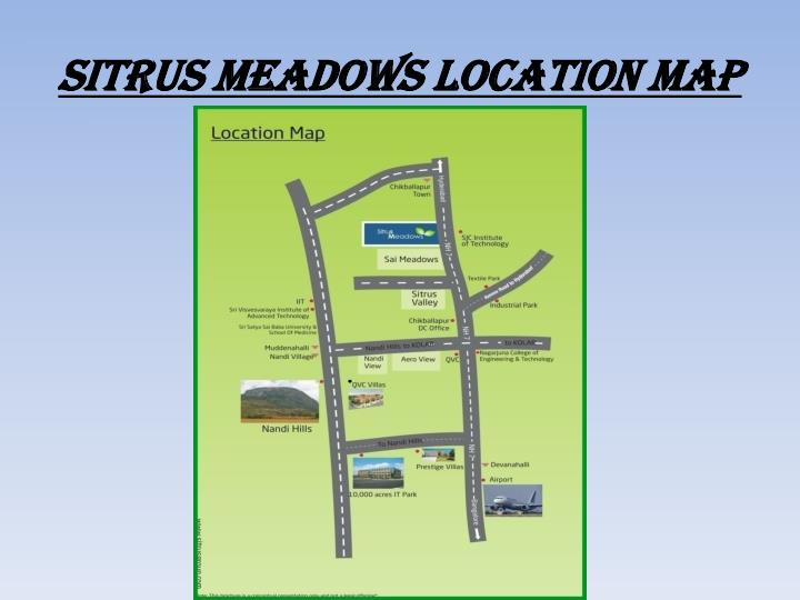 Sitrus meadows location map