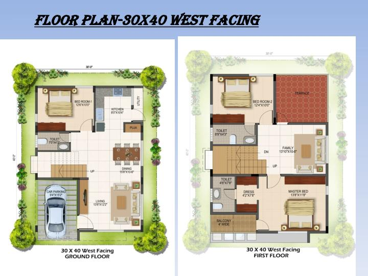 FLOOR PLAN-30x40 West facing
