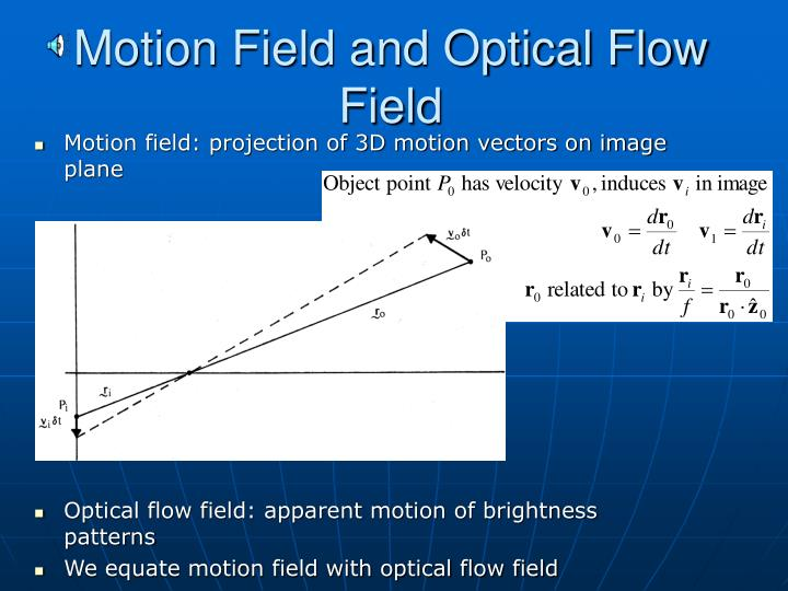 Motion Field and Optical Flow Field