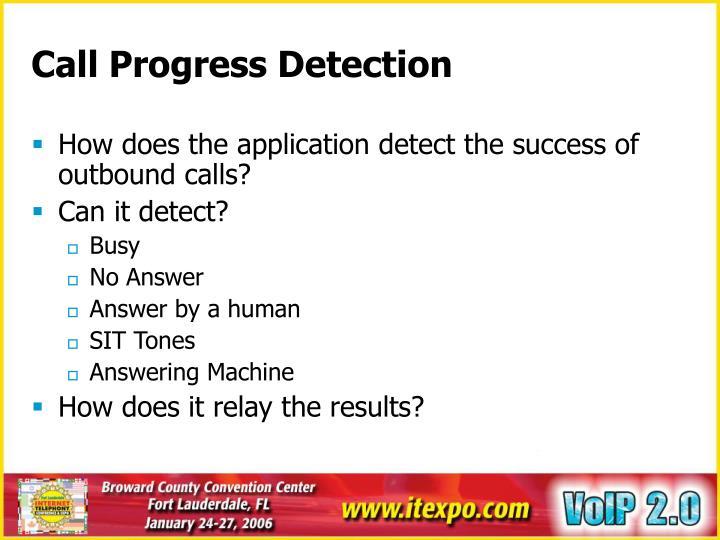 Call Progress Detection