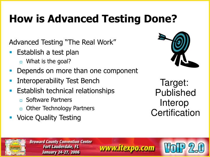 How is Advanced Testing Done?