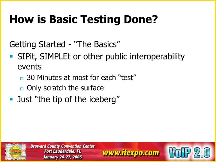 How is Basic Testing Done?