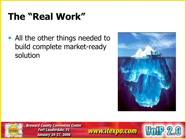 All the other things needed to build complete market-ready solution