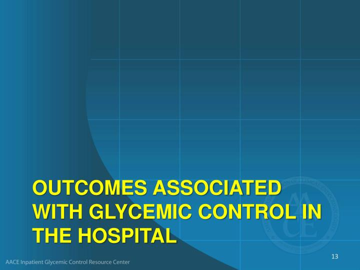 Outcomes Associated With Glycemic Control in the Hospital