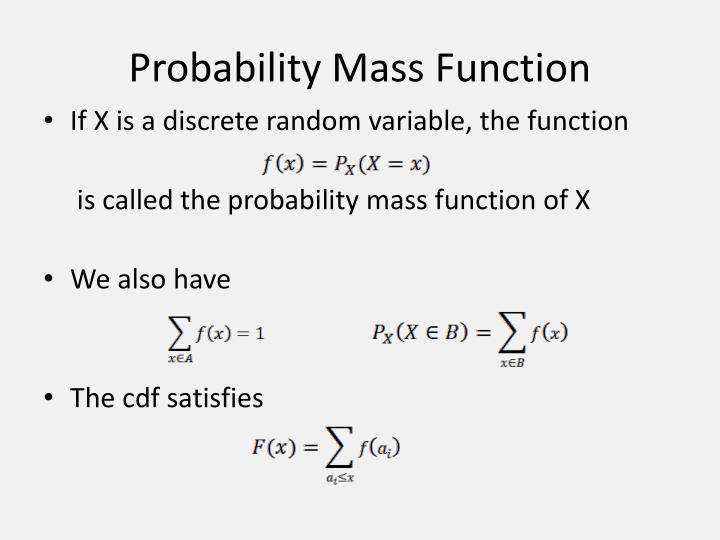 random variable and density function Probability distributions  d random variable - let x represent a function that associates a real number  we deal with the so-called probability density of x at a.