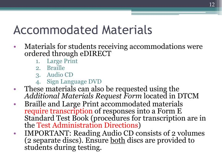 Accommodated Materials