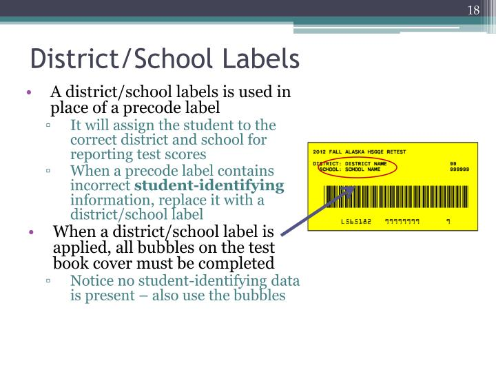 District/School Labels