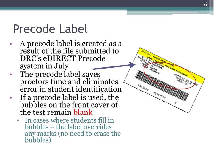 Precode Label