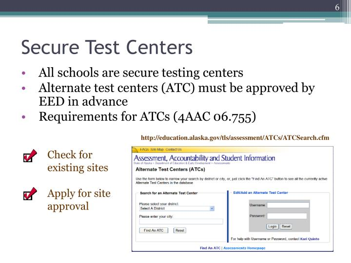 Secure Test Centers