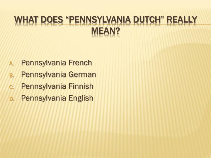 Pennsylvania French
