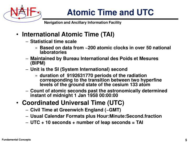 Atomic Time and UTC